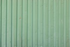Green shipping container stripe pattern Stock Image