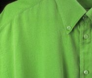 Green shirt. With very good detail due to high res Royalty Free Stock Photo
