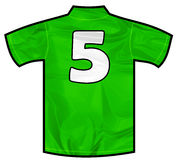 Green shirt five Stock Images