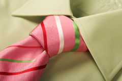 Green Shirt Pink Tie Royalty Free Stock Photography