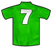 Green shirt severn Stock Photo