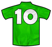 Green shirt ten Royalty Free Stock Image