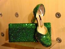 Green shoe Stock Image