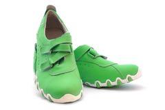 Green shoe Stock Photo