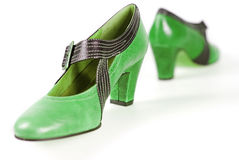 Green shoes Royalty Free Stock Photos