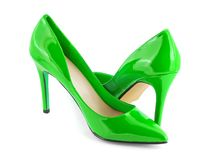 Green shoes Royalty Free Stock Images