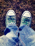 Green shoes Royalty Free Stock Image