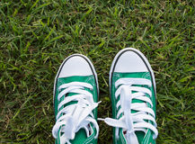 Green shoes Stock Image