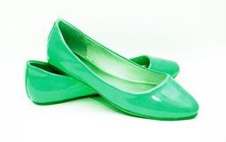 Green shoes Stock Photos