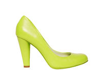 Green shoes isolated on white Royalty Free Stock Photography