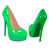 Green shoes. Stock Photo