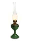 Shone oil lamp on the white. Royalty Free Stock Photos