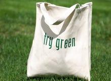 green shoppar try Arkivbilder