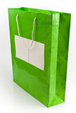 Green shopping bag Stock Image