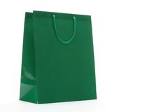 Green Shopping Bag Royalty Free Stock Photo