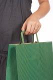 Green shopping bag Stock Image
