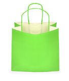 Green shopping bag Stock Photos