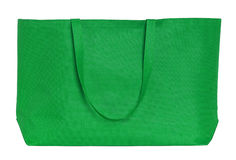Green shopping bag isolated on white Stock Photography