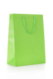 Green shopping bag in paper Royalty Free Stock Image