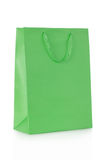 Green shopping bag in paper Stock Photo