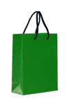 Green shopping bag. Stock Photos