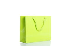 Green shopping bag Royalty Free Stock Photography