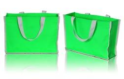 Green shopping bag Stock Photos