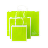 Green shopping bags Stock Photography