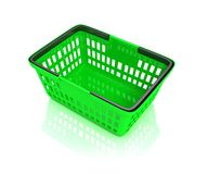 Green shopping basket Royalty Free Stock Photography