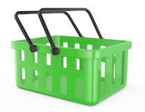 Green shopping basket Royalty Free Stock Images