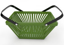 Green shopping basket. 3d image Stock Images