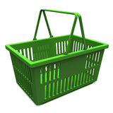 Green Shopping Basket Royalty Free Stock Photo