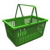 Green Shopping Basket Royalty Free Stock Photo