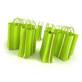 Green shopping circle Royalty Free Stock Photo