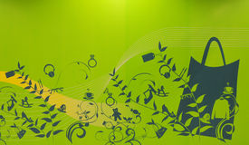 Green shopping concept Stock Photography
