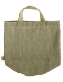 Green shopping fabric bag on white Royalty Free Stock Photo