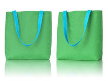 Green shopping fabric bag Stock Images