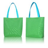 Green shopping fabric bag Royalty Free Stock Photo