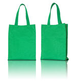Green shopping fabric bag Stock Photography