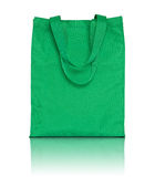 Green shopping fabric bag Royalty Free Stock Image