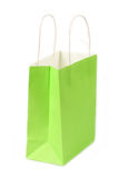 Green shopping paper bag Royalty Free Stock Images