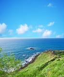 Green shore in Castelsardo Royalty Free Stock Image