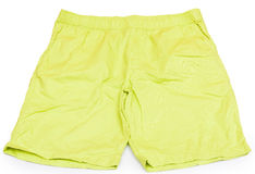 Green short pants isolated Royalty Free Stock Images