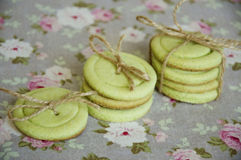 Green shortbread cookies Royalty Free Stock Image
