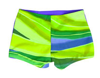 Green shorts. Isolated on white Stock Photography