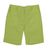 Green shorts. Isolated on white Stock Image