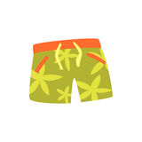 Green shorts for swimming cartoon vector Illustration. On a white background Stock Photos