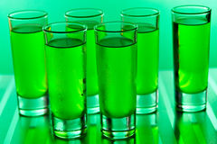 Green shots. On a green background Royalty Free Stock Photo