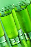 Green shots. On a green background stock photography