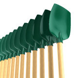 Green shovels Stock Image
